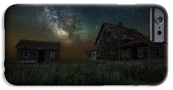 House iPhone Cases - Alone in the Dark iPhone Case by Aaron J Groen