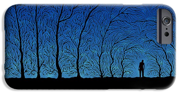 """digital Abstract"" iPhone Cases - Alone in the Forrest iPhone Case by Gianfranco Weiss"