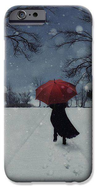 alone in the snow iPhone Case by Joana Kruse