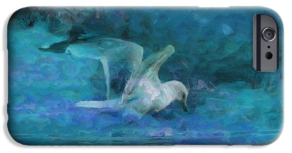 Painter Photo Digital Art iPhone Cases - Alone iPhone Case by Jack Zulli