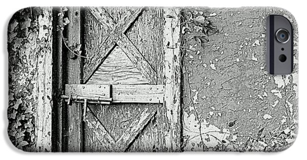 Old Barn iPhone Cases - Alone iPhone Case by Lori Pessin Lafargue