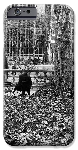 Alone With My Thoughts mono iPhone Case by John Rizzuto