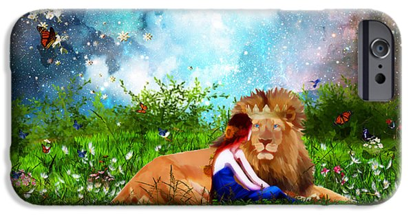 Judah iPhone Cases - Alone with the King iPhone Case by Dolores Develde