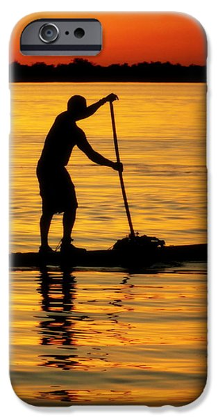 ALONE WITH THE SUN iPhone Case by KAREN WILES