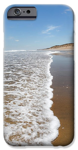 Cape Cod Landscapes iPhone Cases - Along The Beach iPhone Case by Bill  Wakeley