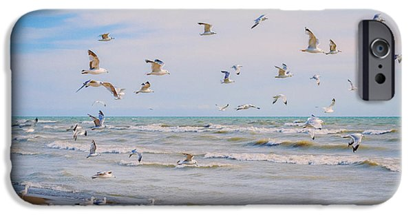 Recently Sold -  - Flying Seagull iPhone Cases - Along The Beach iPhone Case by Garvin Hunter