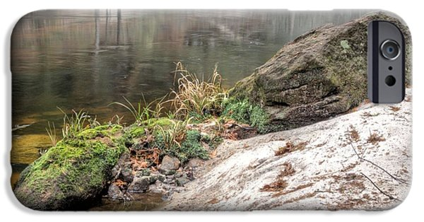 Fed iPhone Cases - Along the Black Water River iPhone Case by JC Findley