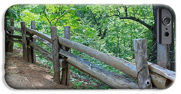 Split Rail Fence iPhone Cases - Along the Blue Ridge Parkway III iPhone Case by Suzanne Gaff