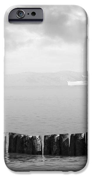 Along The Breakwater iPhone Case by Wim Lanclus