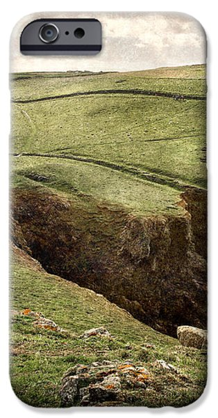 Along the Coast Path iPhone Case by William Beuther