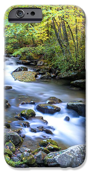 Day iPhone Cases - Along the Oconaluftee River iPhone Case by Andres Leon