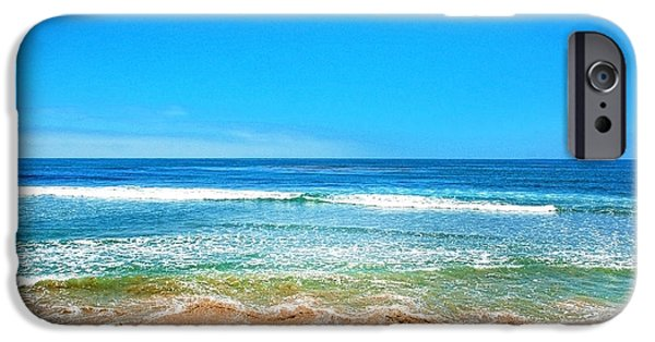 Rincon Beach iPhone Cases - Along the Rincon California Surf Spot from the book MY OCEAN iPhone Case by Artist and Photographer Laura Wrede