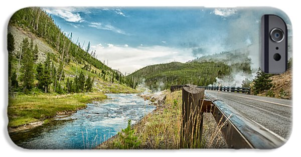 United States iPhone Cases - Along the Volcanic Yellowstone Road iPhone Case by Andres Leon
