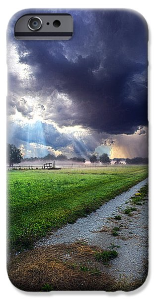 Winter Storm iPhone Cases - Along the Way iPhone Case by Phil Koch
