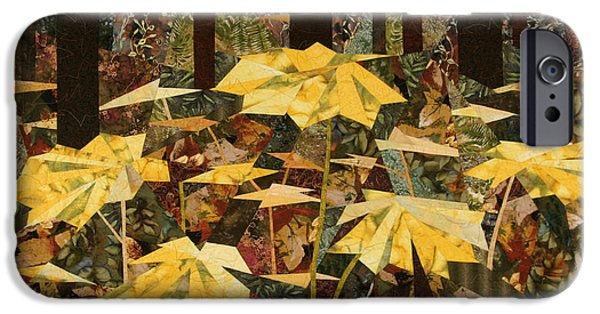 Plant Tapestries - Textiles iPhone Cases - Along the Winner Creek Trail iPhone Case by Linda Beach