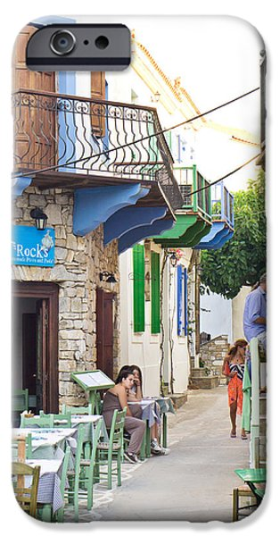 Old Village iPhone Cases - Alonissos Old Village iPhone Case by Tom Gowanlock