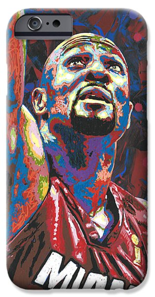 Miami Heat iPhone Cases - Alonzo Mourning iPhone Case by Maria Arango