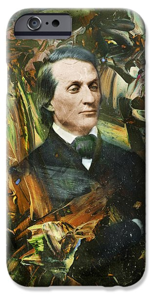 Famous Figures iPhone Cases - Aloof Fellow 1 iPhone Case by James W Johnson