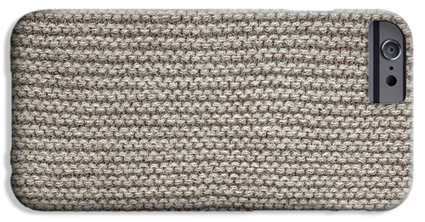 Scarves iPhone Cases - Alpaca wool knit texture iPhone Case by Elena Elisseeva