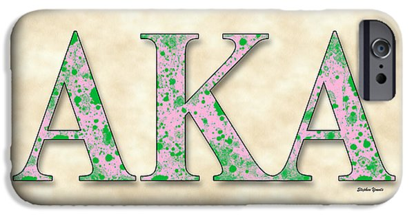 D.c. Digital iPhone Cases - Alpha Kappa Alpha - Parchment iPhone Case by Stephen Younts