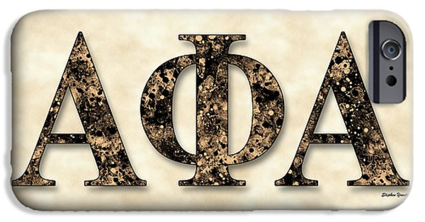 Ithaca iPhone Cases - Alpha Phi Alpha - Parchment iPhone Case by Stephen Younts