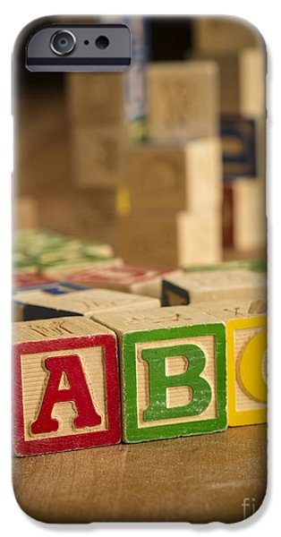 Learn iPhone Cases - Alphabet Blocks iPhone Case by Edward Fielding