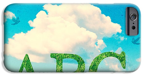Alphabet Learning iPhone Cases - Alphabet Letters In Grass iPhone Case by Amanda And Christopher Elwell