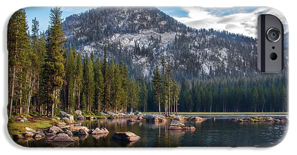 Haybale iPhone Cases - Alpine Beauty iPhone Case by Robert Bales