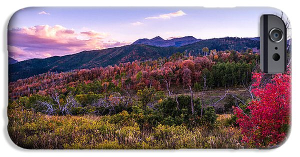 Sunset iPhone Cases - Alpine Fall iPhone Case by Chad Dutson