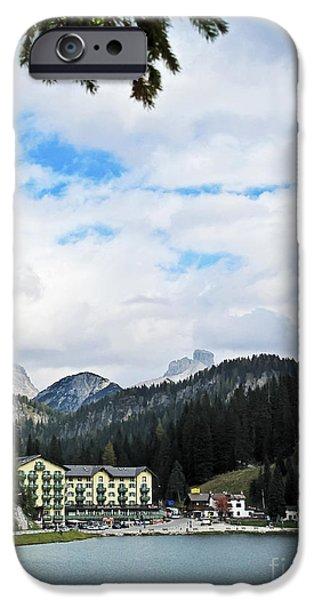 Village iPhone Cases - Alpine Lake iPhone Case by Elvis Vaughn