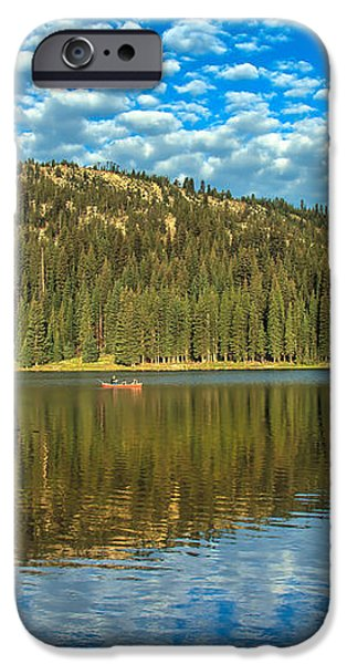 Alpine Lake Fishing iPhone Case by Robert Bales
