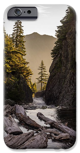 Snow iPhone Cases - Alpine Lakes Waters Course iPhone Case by Mike Reid