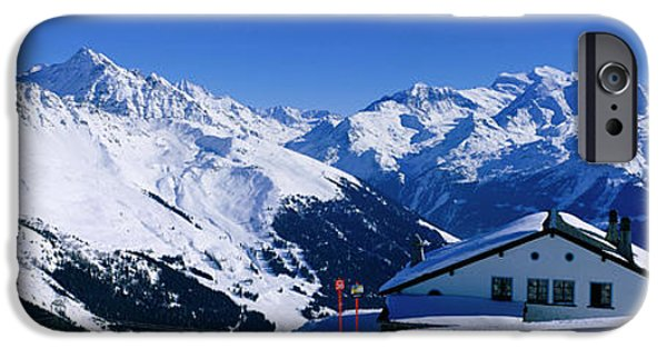 Snowy Day iPhone Cases - Alpine Scene In Winter, Switzerland iPhone Case by Panoramic Images