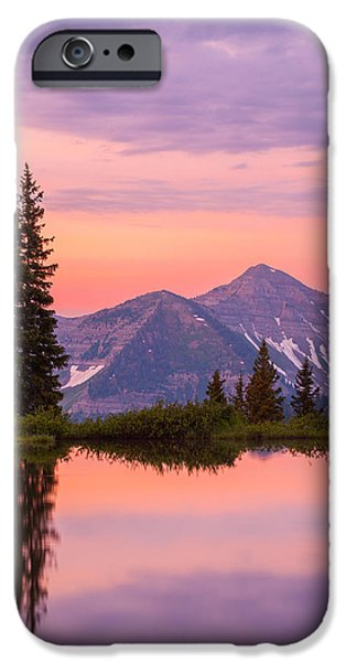Landscape Acrylic Prints iPhone Cases - Alpine Sunrise iPhone Case by Darren  White