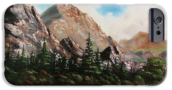 Bob Ross Paintings iPhone Cases - Alpine Vista iPhone Case by Gavin Kutil