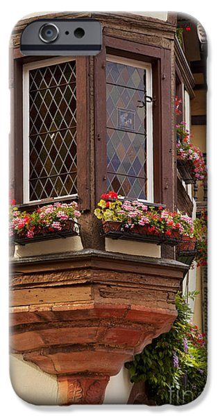 Alsace Window iPhone Case by Brian Jannsen