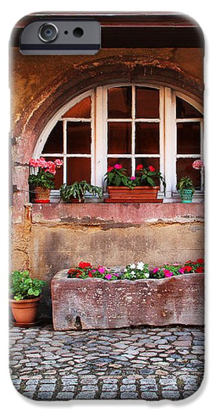 Alsatian Home in Kaysersberg France iPhone Case by Greg Matchick