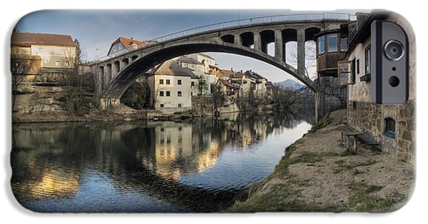 River View iPhone Cases - Alte Brÿcke In Waidhofen An Der Ybbs iPhone Case by Tips Images