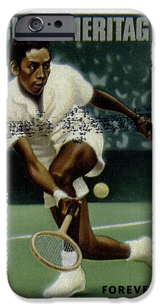 Wimbledon Photographs iPhone Cases - Althea Gibson Postage Stamp iPhone Case by Phil Cardamone