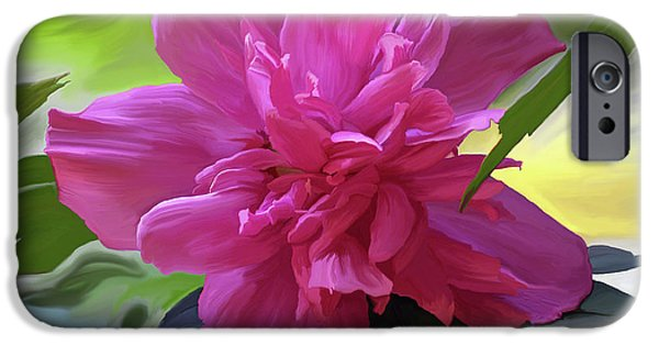 Althea iPhone Cases - Althea Hibiscus I iPhone Case by Patricia Griffin Brett