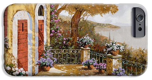 Lakescape iPhone Cases - Altre Porte Rosse iPhone Case by Guido Borelli