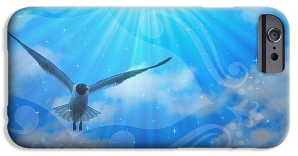 Seagull Mixed Media iPhone Cases - Always Makes My Day iPhone Case by Trish Tritz