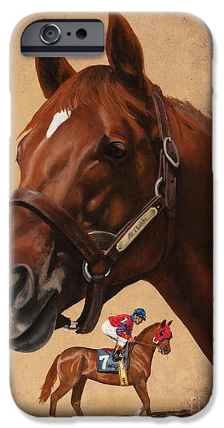 Horse Racing iPhone Cases - Alydar iPhone Case by Pat DeLong