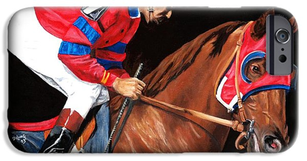 Horse Racing iPhone Cases - Alydar post parade iPhone Case by Pat DeLong