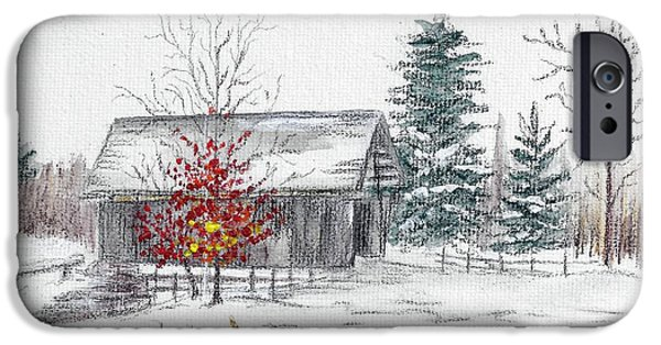 Covered Bridge Pastels iPhone Cases - A.M. Foster Bridge 3 Cabot VT iPhone Case by Judith Rice