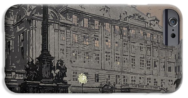 Padre Art iPhone Cases - Am Hof Vienna 1904 iPhone Case by Padre Art