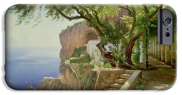 Steps Paintings iPhone Cases - Amalfi iPhone Case by Carl Frederick Aagaard