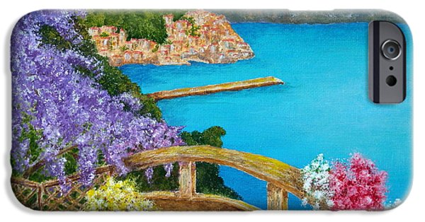 Village Mixed Media iPhone Cases - Amalfi Coast iPhone Case by Pamela Allegretto