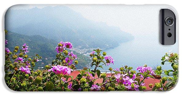 Old Churches iPhone Cases - Amalfi Coast View From Ravello Italy  iPhone Case by Irina Sztukowski