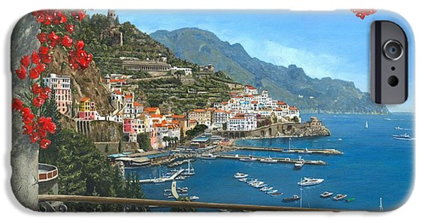 Old Town Digital iPhone Cases - Amalfi iPhone Case by MGL Meiklejohn Graphics Licensing
